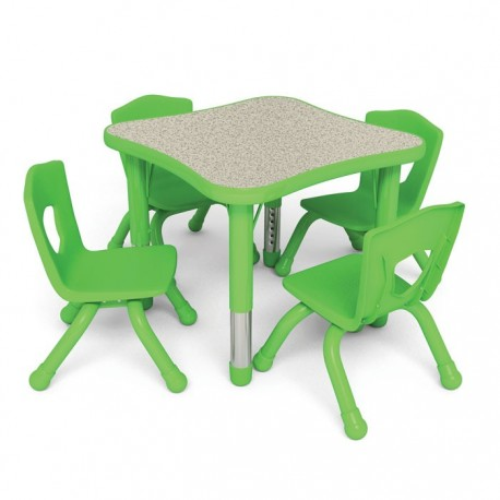 TABLE KIDS QUAD WAVE PITA H REG CM. 60x60x37-62 (H)
