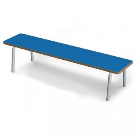 BENCH WITHOUT BACKREST WITH ROUNDED CORNERS CM. 125x28 (HS 35)