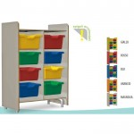 WARDROBE WITH PORTAVASCHETTE WITH ROUNDED CORNERS CM. 71 X 40 X 105,5 (H)