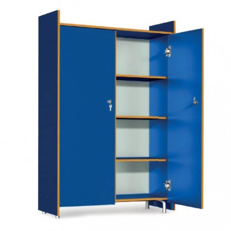 WARDROBE CLASS WITH KEY-LOCK, FLAT-CM. 96,50 X 40 X 145 (H)