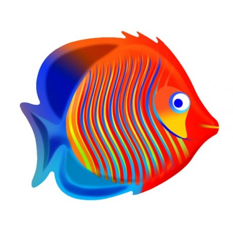 DEC TROPICAL FISH ROS/BLUE CM. 35x40x20 (H)