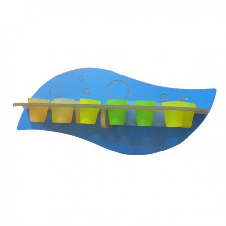 Glass holder WALL WITH No. 12 GLASSES DIM CM. 90 X 30 X 40 (H)