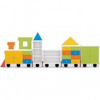 MOBILE COMPOSITION NOVA 4 TRAIN WAGONS CM. 390x40x154 (H)