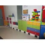 MOBILE COMPOSIZIONE NOVA TRENO 4 VAGONI CM. 390x40x154 (H)