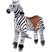 GAME CAV. ON WHEELS, PROF. ZEBRA LARGE CM. 110 X 35 X 112 (H)