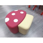 POUF MUSHROOM SOFT PINK CM. 50x50x26 (H)