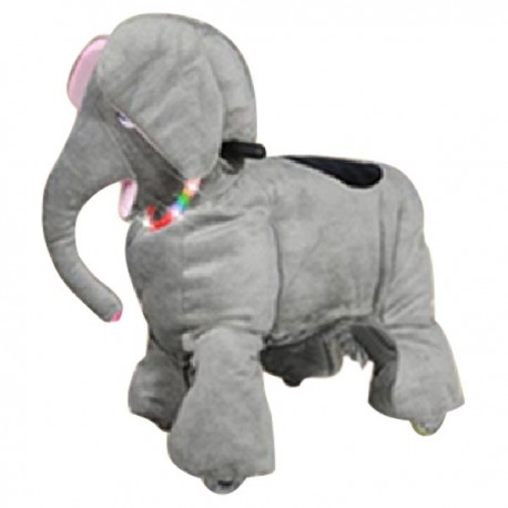 PLUSH CAV. BATTERY WITH COIN ELEPHANT CM. 100 X 65 X 90 (H)