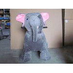 PLUSH CAV. BATTERY WITH COIN ELEPHANT CM. 100 X 65 X 90 (H)