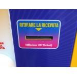 MANGIA TICKET 2 PANNELLI CON DISPLAY LCD E SISTEMA ANTISABOTAGGIO CM. 60 X 60 X 155 (H)