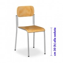 SMALL CHAIRS ASYLUM STACKABLE IN BEECH WOOD CM. 28x28x30 (HS)