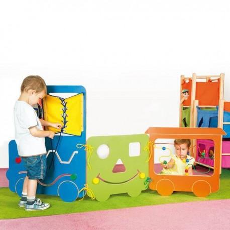 Trenino interattivo cm 200x90 h play casoria for Arredo scuola materna
