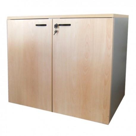 Mobile ufficio da 90 con ante in legno e serratura cm for Mobile basso ufficio