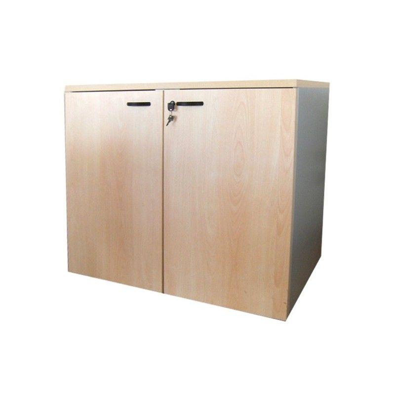Mobile ufficio da 90 con ante in legno e serratura cm for Mobile reception ufficio