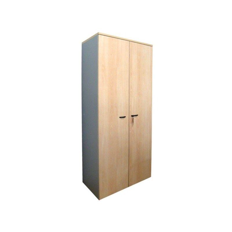 Mobile alto da 90 2 ante con serratura e 4 mensole cm for Mobile ufficio con serratura