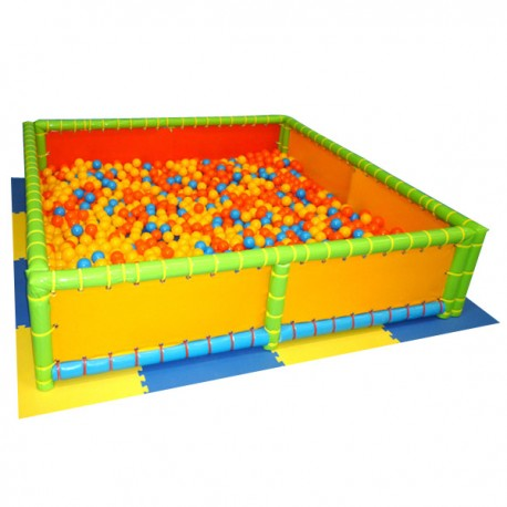 BALL POOL AND MT. 2 X 2 X 0.50 (H) TILES, INCLUDED 4 PCS.