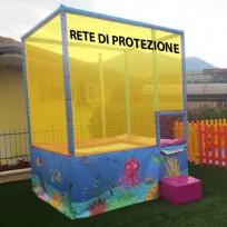 RICAMBIO - RETE DI PROTEZIONE AZZURRA (COMPLETA) PER TPE49 DIM. MT. 7,90 X 1,95