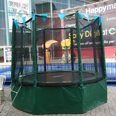 RUNDES TRAMPOLIN DELUXE Ø MT. 2,4 (PRIVATE NUTZUNG)