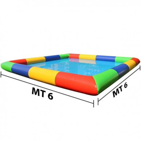 LAKE INFLATABLE DIM MT. 6 X 6 X 0.5 (H)
