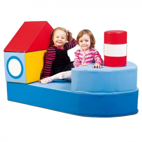 ACTIVITY SET NAVE BLU 5 PZ. CM. 130x70x80 (H)