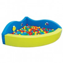 BALL POOL AND SOFT ANGULAR WAVE EFFECT CM. 160x160x55 (H)