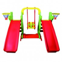 SET C - SWING, WITH TWO SLIDES CM. 198 x 158 X 122 (H)