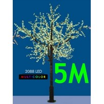CILIEGIO CHERRY LED MAXI 5 2088 LED Ø MT. 2,6 X 5 (H) MULTICOLOR