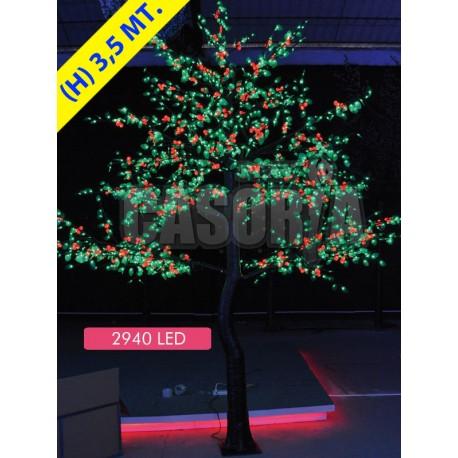 CHERRY CHERRY FRUIT 2940 LED Ø MT. 2.8 X 3.5 IN (H) GREEN RED