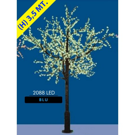 CILIEGIO CHERRY LED MAXI 2088 LED Ø MT. 2,6 X 3,5 (H) LIGHT BLUE