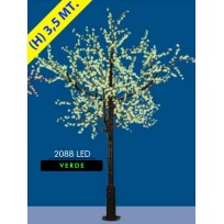 CILIEGIO CHERRY LED MAXI 2088 LED Ø MT. 2,6 X 3,5 (H) VERDE