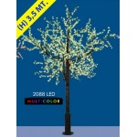 CILIEGIO CHERRY LED MAXI 2088 LED Ø MT. 2,6 X 3,5 (H) MULTICOLOR