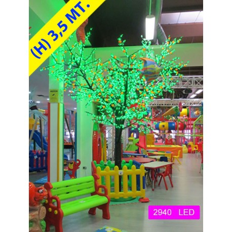 MANDARINO FRUIT 2940 LED  Ø MT. 2,8 X 3,5 (H) VERDE ROSSO