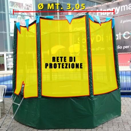 RICAMBIO RETE DI PROTEZIONE SENZA PALI TRAMPOLINO TPE37 Ø CM.305