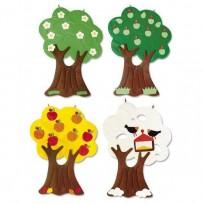 SET OF 4 TREES WITH VELCRO CM. 80x130 (H)