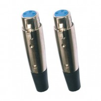 PAIR OF FEMALE XLR INPUT CONNECTORS