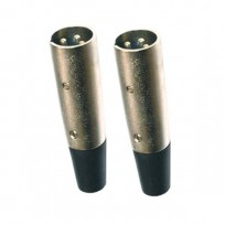 PAIR CONNECTORS XLR MALE