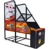GAME BASKETBALL STREETBALL WITH COIN MECHANISM AND DISPENSER TICKET DIM CM. 125 x 105 x 250 (h)