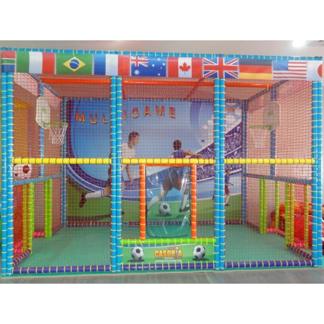 MULTIGAME FOOTBALL / BASKETBALL COURT DIM. CM. 670 X 370 X 300 (h) WITH BASKETS INCLUDED