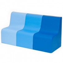 SOFA SOFT 3 PLACES SUN BLUE DIM CM. 45x120x60 (H)