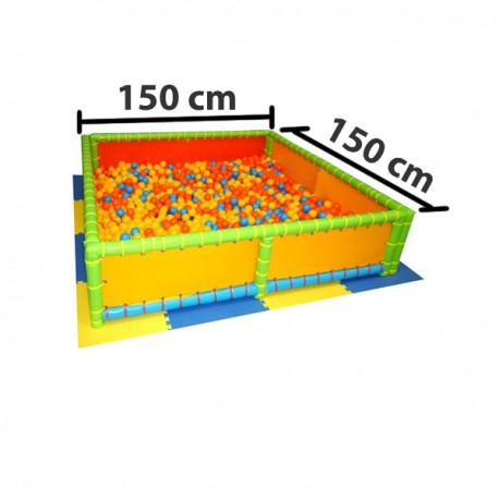 VASCA PALLINE DIM MT. 1,5 X 1,5 X 0,50 (H)  ESCLUSE PALLINE - PAVIMENTAZIONE INCLUSA (pz. 4)