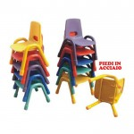 KIDS HIGH CHAIR PLASTIC SEAT METAL FEET CM. 30 X 38 X 60 (H)