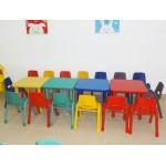 KIDS HIGH CHAIR PLASTIC SEAT METAL FEET CM. 30 X 38 X 60 (H)