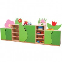MOBILE COMPOSIZIONE FLOWER NV CM. 43x358x140 (H)