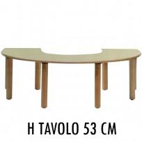 TAVOLO PAPPA BABY IN LEGNO CM. 140x90x53 (H)