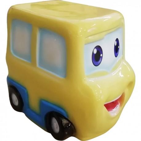 SEDUTA MINI-CAR IN RESINA  GIALLO DIM CM. 35 X 25 X 35 (H)