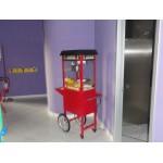 MACHINE POP CORN MAXI WITH CART CM. 93 (to shelf) X 36 X 163 (H)