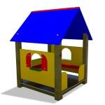 SMALL PLAY HOUSE DIM CM. 114 X 114 X 200 (H)