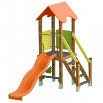 TORRETTA CON TETTO CHILDREN PLAY FACILITY DIM CM. 282 X 149 X 262 (H)