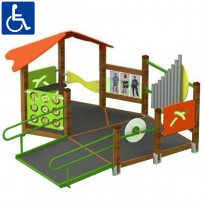 PERCORSO INCLUSIVO CHILDREN PLAY FACILITY DIM CM. 271 X 284 X 170 (H)