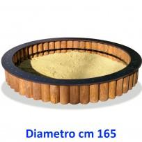 SABBIERA WOODEN CIRCOLARE DIM CM. 165 X 165 X 45 (H)