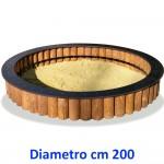 SABBIERA WOODEN CIRCOLARE DIM CM. 200 X 200 X 45 (H)